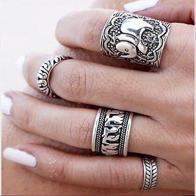 Női Vallomás gyűrűk Vésett jelmez ékszerek Ötvözet Flower Shape Ékszerek Kompatibilitás Napi Hétköznapi