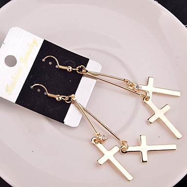 Women's Drop Earrings - Cross Silver / Golden For Wedding / Party / Daily