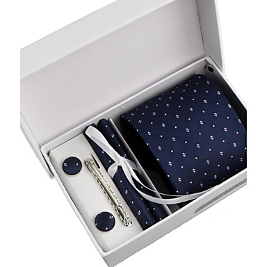 Men's Polyester Necktie, Pattern Classic Party Wedding All Seasons