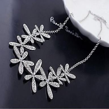 Women's Rhinestone Alloy Statement Necklace - Rhinestone Alloy Birthstones Snowflake Necklace For Wedding Party Daily Casual