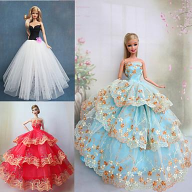 Prințesă Rochii Pentru Barbie Doll Dantelă Poliester Rochie Pentru Fata lui păpușă de jucărie