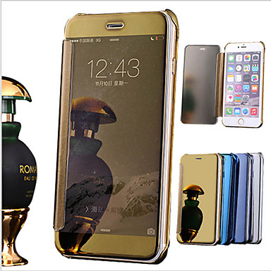 Case For Apple iPhone 6 iPhone 6 Plus Plating Mirror Flip Full Body Cases Solid Color Hard PU Leather for iPhone 8 Plus iPhone 8 iPhone 7