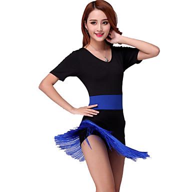 Latin Dance Dresses Women's Performance Milk Fiber Tassel Dress / Samba