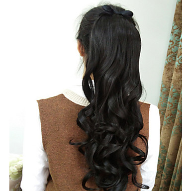 Tape In Ponytails Synthetic Hair Hair Piece Hair Extension Wavy