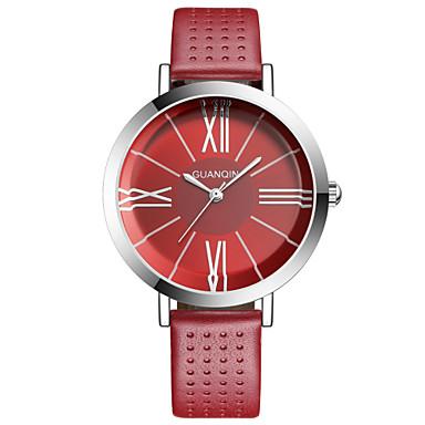 Damen Modeuhr Quartz Wasserdicht Leder Band Schwarz / Weiß / Rot Marke