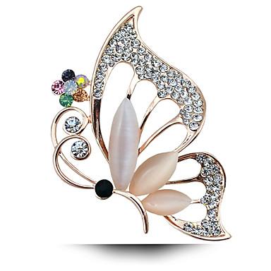 Kadın's - Moda Broş Altın / Beyaz / Gökküşağı Uyumluluk Düğün / Parti / Günlük