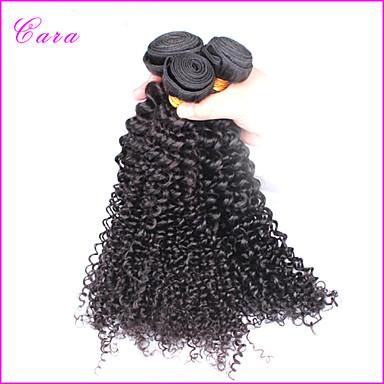 Euraasialainen Hiukset kutoo Kinky Curly Kaareva Weave Hiuspidennykset 3 osainen Musta