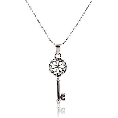 Mulheres Luxo Fashion Oco Colares com Pendentes Cristal Imitações de Diamante Liga Colares com Pendentes , Festa Diário Casual