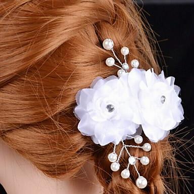 Imitert Perle / Satin blomster med 1 Bryllup / Spesiell Leilighet Hodeplagg