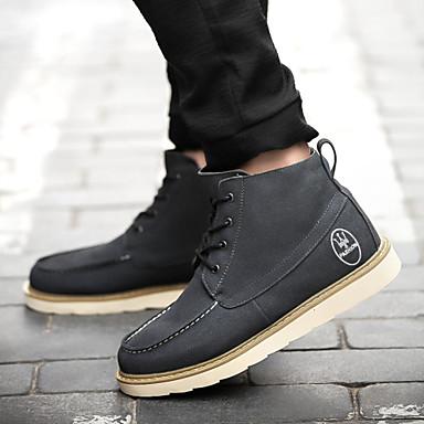 Férfi cipő Bőrutánzat Tavasz Ősz Tél Görkorcsolya cipők Cowboy / Western csizmák Közepesen magas szárú bakancs Kényelmes Újdonság