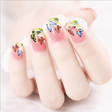 1 Water Transfer Sticker 3D Nail Stickers Abstract Fashion Lovely Daily High Quality