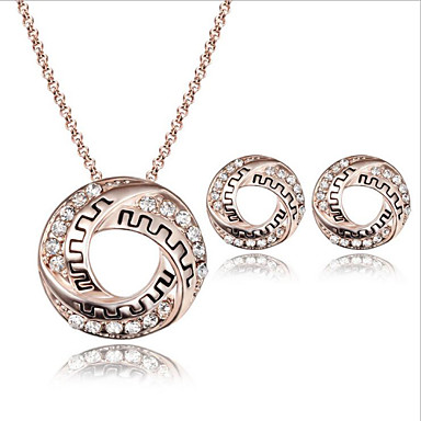 Fashion Pendant Crystal Jewelry Set include Necklace & Earrings