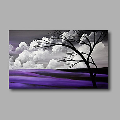 Hand-Painted Landscape Horizontal, Modern Canvas Oil Painting Home Decoration One Panel