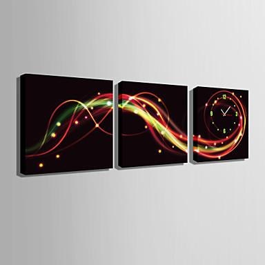 Neliö Moderni/nykyaikainen Seinäkello , Muuta Kanvas40 x 40cm(16inchx16inch)x3pcs/ 50 x 50cm(20inchx20inch)x3pcs/ 60 x