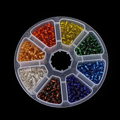 Jóias DIY Vidro Forma redonda Bead faça você mesmo Colar Pulseiras