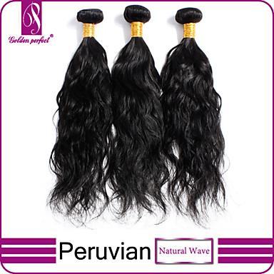 Hiukset kutoo Perulainen Luonnolliset aaltoilevat 3 osainen hiukset kutoo
