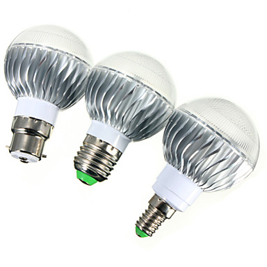 billige Elpærer-ywxlight® e14 gu10 e26 / e27 b22 540lm 5w led globe pærer førte dimbar fjernstyrt rgb ac 85-265v