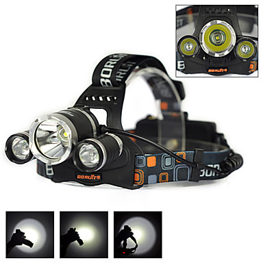 Headlamp Straps LED 6000 Lumens 1 Mode Cree XM-L T6 18650 Rechargeable Camping/Hiking/Caving Cycling/Bike Hunting Traveling Driving