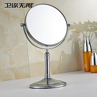 weiyuwuxian® 360 de rotație de mărire finisaj cromat alamă rotund solid oglindă cosmetică