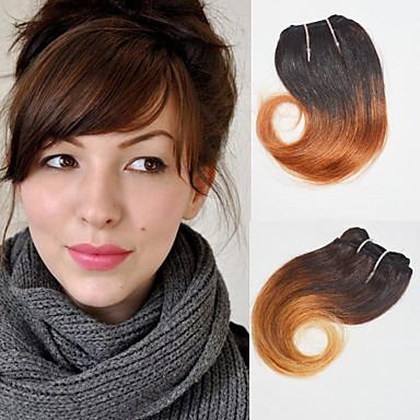 Indiai haj Hullámos Emberi haj Ombre / Emberi haj tincsek Ombre Emberi haj sző Human Hair Extensions Női
