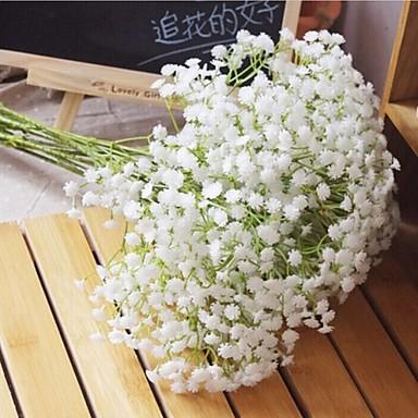 6 şube beyaz jipsofila yapay çiçek düğün dekorasyon repens