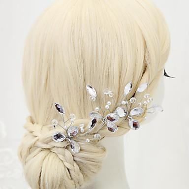 Imitation Pearl Rhinestone Alloy Hair Pin Headpiece Elegant Style