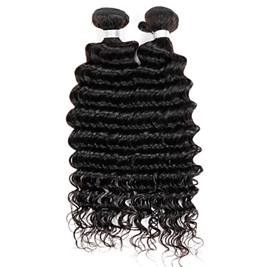 Brazilian Hair Deep Wave Virgin Human Hair Natural Color Hair Weaves Human Hair Weaves natural black Human Hair Extensions