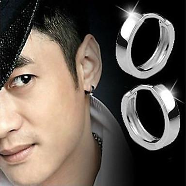 Erkek Kadın's Vidali Küpeler Moda Som Gümüş Gümüş Mücevher Gümüş Düğün Parti Günlük Kostüm takısı
