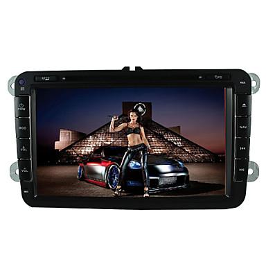 8 tommers Windows CE 6.0 Innebygget Bluetooth / GPS / iPod til Volkswagen Brukerstøtte / 3D grensesnitt / Rattkontroll / Spill