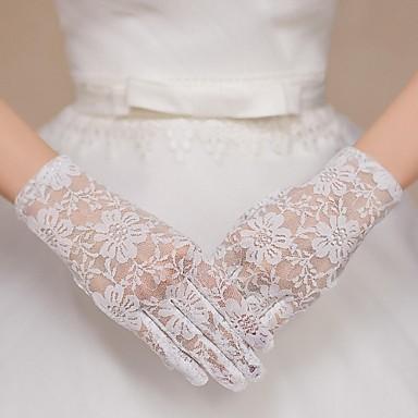 csipke csukló hosszúságú kesztyű menyasszonyi kesztyű klasszikus női stílusban