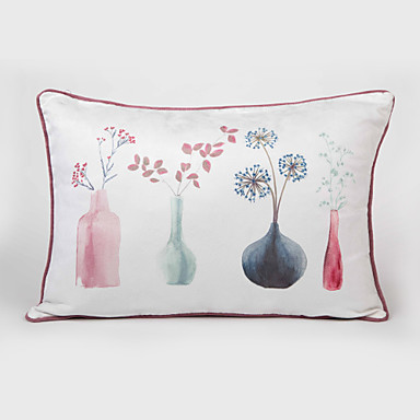 1 pcs Leather/suede Pillow Cover, Still Life Modern/Contemporary