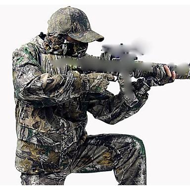 Camouflage Winter Coat Suit , Waterproof Coat Parka ,Camo Hunting Jacket(Jacket + Trousers + peaked cap)