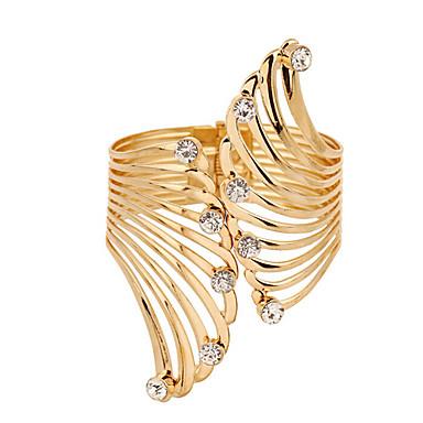 abordables Bracelet-Manchettes Bracelets Diamant synthétique Zirconium Imitation Diamant Plume dames Luxe unique Rétro Vintage Soirée Travail Bracelet Bijoux Écran couleur pour Regalos de Navidad