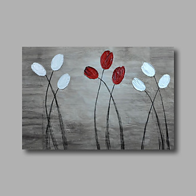 Hand-Painted Floral/Botanical Horizontal, Modern Canvas Oil Painting Home Decoration One Panel