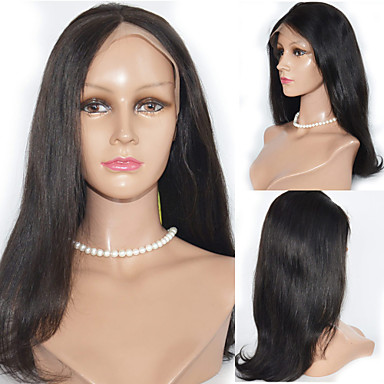 16inch Lace Front Hair Wigs 100% Human Hair Mongolian Remy Hair Straight Hair Wigs for Women