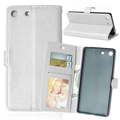 Case Kompatibilitás Sony Xperia Z5 Xperia Z3 Sony tok Pénztárca Kártyatartó Állvánnyal Flip Teljes védelem Tömör szín Kemény Műbőr Bőr