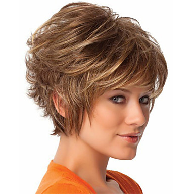 Women Synthetic Wig Short Straight Blonde Halloween Wig Carnival Wig Costume Wig