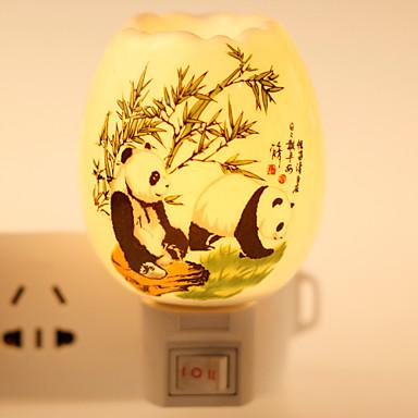 modelou-panda lâmpada de cerâmica lâmpada de luz da noite bdeside presente festival fragrância