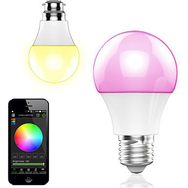 4.5w controle de aplicativos inteligentes sem fio bluetooth led rgb lâmpada / luz 1pcs