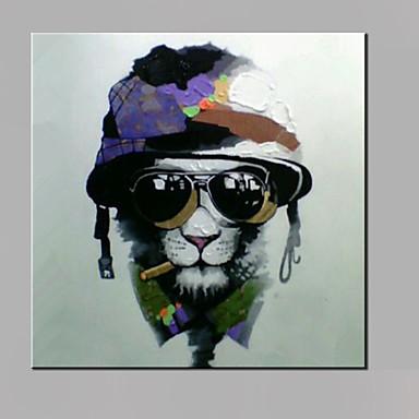 Hang malte oljemaleri Håndmalte - Pop Kunst Moderne Lerret