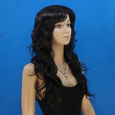 Women's Synthetic Wig Natural Wave Black Costume Wig