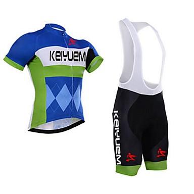 KEIYUEM Camisa com Bermuda Bretelle Unisexo Manga Curta MotoCalções Bibes braço aquecedores Camisa/Roupas Para Esporte Conjuntos de