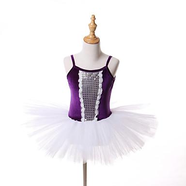 발레 투투&스커트 드레스 튜터스 아동용 성능 훈련 명주그물 벨벳 1개 민소매 크리스마스 할로윈 공주 드레스
