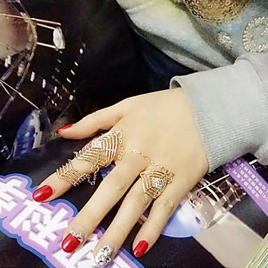 Gyűrűk Esküvő / Parti / Napi / Hétköznapi Ékszerek Ötvözet Női Midi gyűrűk 1db,8½ Aranyozott / Ezüst