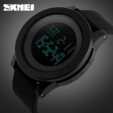 skmei® μόδα μαύρο ψηφιακό σπορ ανδρικό ρολόι αδιάβροχο συναγερμού  χρονογράφου 241937bf5be