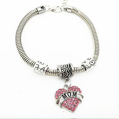 Women's Synthetic Diamond Chain Bracelet - Initial Bracelet White / Blue / Pink For Daily / Casual