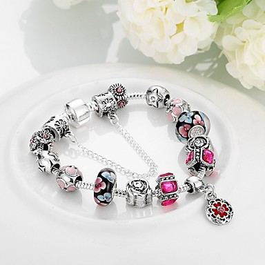 Bracelet Chaînes & Bracelets Gland / Mode / Bohemia style Mariage / Soirée / Quotidien / Décontracté Bijoux Cadeau Argent,1pc