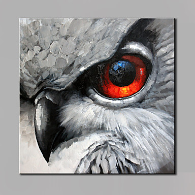 Hand-Painted Animals Square, Modern Canvas Oil Painting Home Decoration One Panel