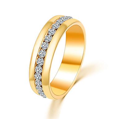 Dame Band Ring / Statement Ring / Løftering - Krystall, Fuskediamant, Legering Luksus, Enkel Stil, Mote 6 / 7 / 8 Sølv / Gylden Til Fest / Daglig / Avslappet