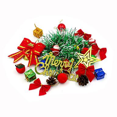 1pakningage15-pakning tilfeldig farge juledekorasjon gaver rolle ofing juletrepynt julegave juledekorasjon gavepose